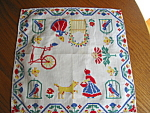 Click here to enlarge image and see more about item hanky92508: Dutch Theme Hanky Vintage