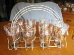 Click here to enlarge image and see more about item hazelatlasglass060710: Hazel Atlas Glass Set