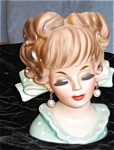 Click here to enlarge image and see more about item head50419: Enesco? Lady Head Vase