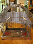 Click here to enlarge image and see more about item hendryx101306: Vintage Hendryx Chrome Birdcage
