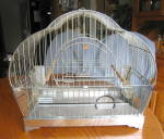 Click here to enlarge image and see more about item hendryx120609: Vintage Art Deco Hendryx Birdcage