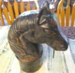 Click to view larger image of Horse Head Antique Hitching Post (Image2)