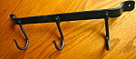 Click here to enlarge image and see more about item hook70807: Wrought Iron Vintage Hook Rack