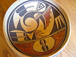 Click here to enlarge image and see more about item hopi807: Vintage Hopi Polychrome Bowl
