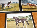 Click here to enlarge image and see more about item horse090911: Three Vintage Horse Prints