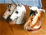 Click here to enlarge image and see more about item horseheadvase30609: Horse Head Vases