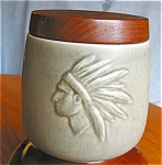 Click here to enlarge image and see more about item hum08081: Vintage Indian Head Danish Tobacco Humidor