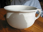 Wood & Sons Antique Ironstone Chamber Pot