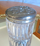 Click here to enlarge image and see more about item jar3088: Antique Cut Glass Vanity Jar