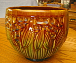 Click to view larger image of Antique McCoy Blended Glaze Jardiniere (Image1)
