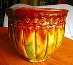 Click here to enlarge image and see more about item jardinaire706: Antique McCoy Pottery Blended Jardiniere