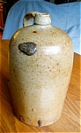 Click here to enlarge image and see more about item jug100525: Large Saltglaze Antique Jug