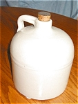 Click here to enlarge image and see more about item jug704051: Antique Stoneware Jug