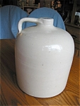 Click here to enlarge image and see more about item jug70405: Antique Stoneware Beehive Large Jug