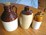 Click to view larger image of Vintage Miniature Stoneware Jugs (Image1)