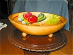 Click here to enlarge image and see more about item kbowlpt10031: Painted Wood Bowl