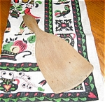 Antique Butter Paddle and Vintage Linen Towel