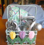 Click here to enlarge image and see more about item kgads100108a: Vintage Kitchen Gadget Basket