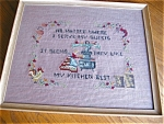 Click here to enlarge image and see more about item kitchen10521: Needlepoint Vintage Kitchen Picture