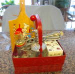 Click here to enlarge image and see more about item kitchenbasket2013: Kitchen Collectibles Red Variety