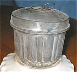 Click here to enlarge image and see more about item kmold10039: Antique Kreamer Tin Pudding Mold