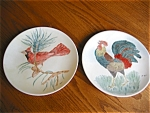 Click here to enlarge image and see more about item knowles60516: Two Edwin Knowles Hand Painted China Plates