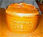 Click here to enlarge image and see more about item ksalt09091: Ceramic Salt Box Vintage