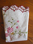Vintage Round Embroidered Cotton Tablecloth