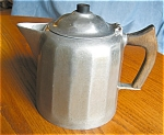 Click here to enlarge image and see more about item kwag08081: Antique Wagner Cast Aluminum Coffeepot
