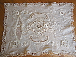 Click here to enlarge image and see more about item lace70627: Antique Lace Pillow Cover