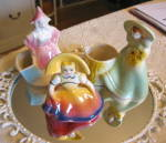 Click here to enlarge image and see more about item ladyplanters0816: Novelty Vintage Lady Planters