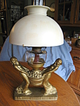Click here to enlarge image and see more about item lamp100108: Antique Victorian Oil Lamp