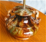 Click here to enlarge image and see more about item lamp10505: Brush-McCoy? Pottery Onyx Lamp
