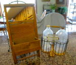 Click here to enlarge image and see more about item laundrybottles4014b: Vintage Laundry Room Bottles