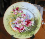 Click here to enlarge image and see more about item limoges070710: Limoges Cabinet Plate Ahrenfeldt