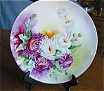 Click here to enlarge image and see more about item limoges10527: Antique Haviland Limoges Dahlias Plate