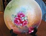 Click here to enlarge image and see more about item limoges80609: Antique Limoges Cabinet Plate Pouyat