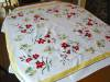 Click to view larger image of Vintage Simtex Cotton Flower Tablecloth (Image4)