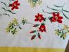 Click to view larger image of Vintage Simtex Cotton Flower Tablecloth (Image5)