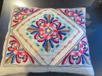 Click here to enlarge image and see more about item linenpillow1018: Vintage Linen Pillow