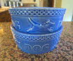 Click here to enlarge image and see more about item lonabergerdog090910: Two Lonaberger Dog Bowls