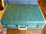 Click here to enlarge image and see more about item luggage10620: Large Vintage Samsonsite Hardsider Suitcase