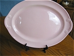 Click here to enlarge image and see more about item luray60516: Pink Lu-Ray Pastels Vintage Platter