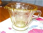 Click here to enlarge image and see more about item madrid09091: Depression Glass Madrid Creamer