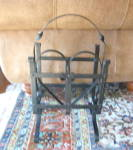 Click to view larger image of Antique Wrought Iron Magazine Rack (Image4)