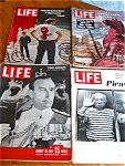 Click here to enlarge image and see more about item mags90408: Four Vintage Life Magazines