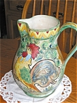 Click here to enlarge image and see more about item maj0303311:  Italian Rooster Vintage Pitcher Large