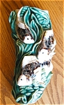 Click here to enlarge image and see more about item maj80425: Art Pottery Fish Wallpocket