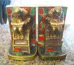 Click here to enlarge image and see more about item marionbronze030911: Marion Bronze Polychrome Bookends Large