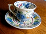 Click here to enlarge image and see more about item masons30622: Mason's Demitasse Teacup